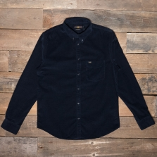 LEE Lee Button Down Cord Shirt Midnight Blue