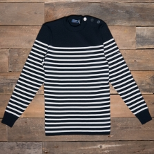SAINT JAMES Rochefort Wool Sweater Kh Navy Ecume