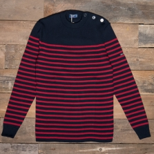 SAINT JAMES Rochefort Wool Sweater J6 Navy Medoc
