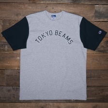 Champion Beams 212623 Beams Collegiate Print T Em006 Grey