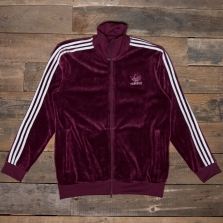 adidas Originals Dh5789 Velour Bb Track Top Maroon