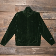 CHAMPION 212601 Velour Track Top Gs536 Green