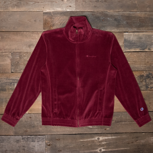 54a8696965e94 CHAMPION 212601 Velour Track Top Rs507 Burgundy – The R Store