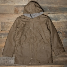 PIKE BROTHERS 1947 N1 Deck Parka Waxed Brown