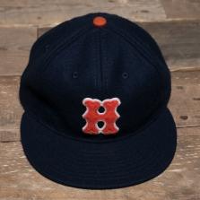EBBETS FIELD FLANNELS Hiroshima Carp 1958 Wool Cap Blue