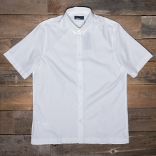 Fred Perry M522 Twill Ss Shirt 129 Snow White