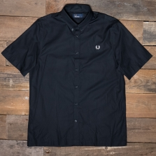 Fred Perry M5522 Twill Ss Shirt 102 Black
