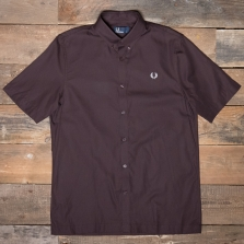 Fred Perry M522 Twill Ss Shirt 645 Cherry