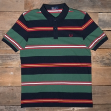Fred Perry M5507 Contrast Stripe Pique Shirt 608 Navy