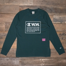 CHAMPION WOOD WOOD 212663 Long Sleeve T Shirt Gs545 Green