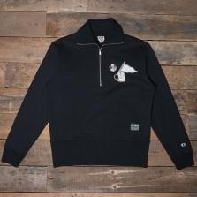 CHAMPION WOOD WOOD 212659 Half Zip Sweatshirt Kk001 Black