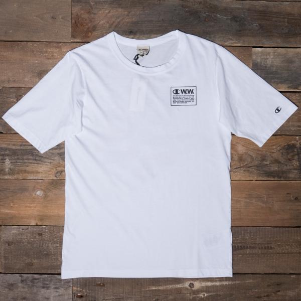 212662 Ww008 Champion Back Rick Shirt White Print Wood T LSUpGjMzVq