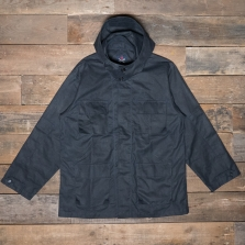 HAWKWOOD MERCANTILE Bdu Jacket Waxed Cotton Navy