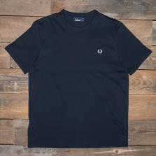 Fred Perry M3519 Ringer T Shirt 608 Navy