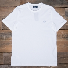 Fred Perry M3519 Ringer T Shirt 100 White