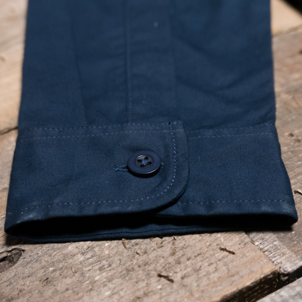 Hawkwood Mercantile Oppo Twill Overshirt Navy The R Store