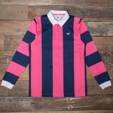 adidas Originals Du7852 Rugby Shirt Indigo Pink