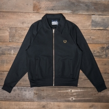 Fred Perry Sj5169 Miles Kane Tricot Track Jacket 102 Black