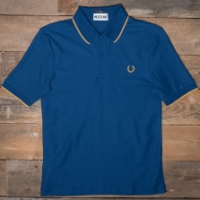 Fred Perry Sm5156 Miles Kane Fine Tipped Pique Shirt 588 Deep Marine