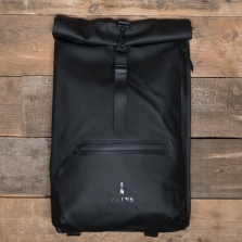 Rains Waterproof Roll Top Rucksack 01 Black