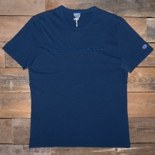 CHAMPION 213088 Large Script T Shirt Bv501 Indigo