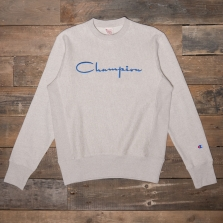 CHAMPION 213086 Large Script Loop Back Sweatshirt Ys064 Linen