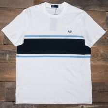 Fred Perry M5574 Colour Block T Shirt 129 Snow White