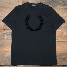 Fred Perry M5591 Laurel Wreath Textured T Shirt 102 Black