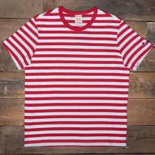 CHAMPION 212971 Striped Reverse Weave T Shirt Rm005 Red