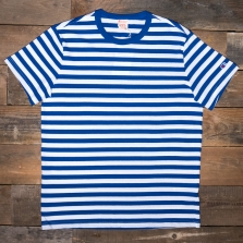CHAMPION 212971 Striped Reverse Weave T Shirt Bm006 Blue