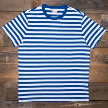 CHAMPION 212971 Striped Reverse Weave T Shirt Bm006 Blue