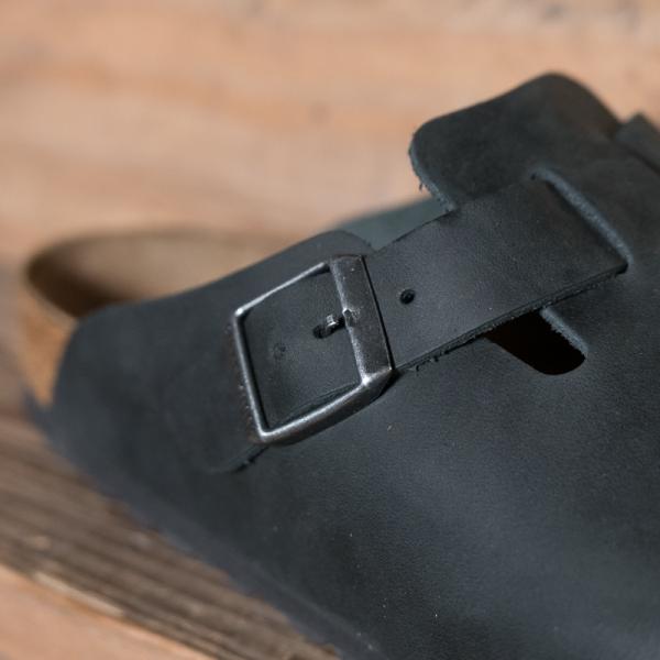 birkenstock 59461 boston oiled leather black the r store. Black Bedroom Furniture Sets. Home Design Ideas