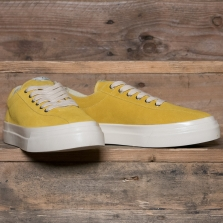 STEPNEY WORKERS CLUB Dellow M Suede Mustard