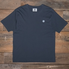 WOOD WOOD Ace Badge T Shirt Dark Blue Fade
