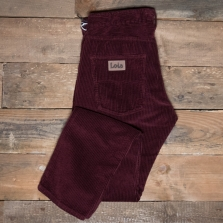 LOIS 188 Terrace Jumbo Cord Trousers 44 Burgundy