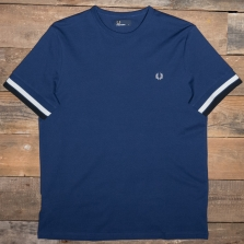 Fred Perry M6513 Bold Tipped T Shirt 143 French Navy