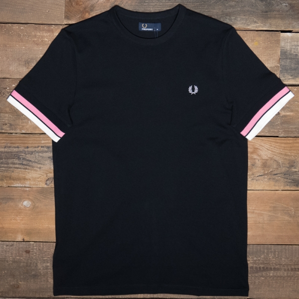 Fred Perry M6513 Bold Tipped T Shirt 102 Black The R Store