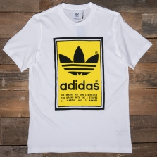 adidas Originals Ed6937 Filled Label T White Yellow