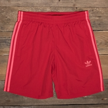 adidas Originals Ej9696 3 Stripes Swim Shorts Scarlet