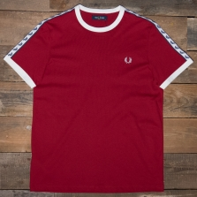 Fred Perry M6347 Taped Ringer T Shirt I56 Siren