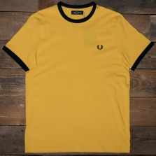 Fred Perry M3519 Ringer T Shirt I68 Sunglow