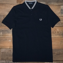 Fred Perry M4526 Bomber Collar Pique Shirt 248 Navy