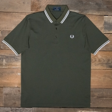 Fred Perry M102 Made In Japan Pique Shirt D65 Dark Fern