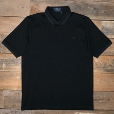 Fred Perry M102 Made In Japan Pique Shirt G32 Black Black