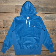 CHAMPION 213691 Hooded Cord Sweatshirt Bs069 Blue