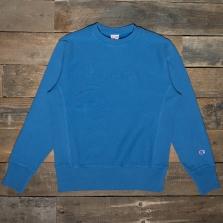 CHAMPION 213694 Embossed Logo Reverse Weave Sweatshirt Bs069 Washed Blue