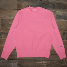 CHAMPION 213694 Embossed Logo Reverse Weave Sweatshirt Ps125 Washed Pink
