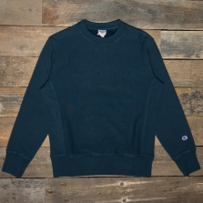 CHAMPION 213694 Embossed Logo Reverse Weave Sweatshirt Kk015 Washed Navy