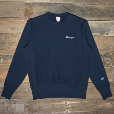 CHAMPION 213603 Logo Reverse Weave Sweatshirt Bs501 Navy
