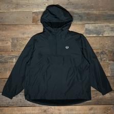 Fred Perry J7523 Ripstop Half Zip Jacket 102 Black